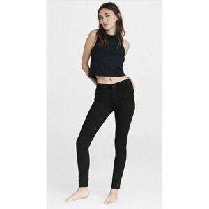 Rag & Bone Nina Mid Rise Black Denim Skinny Jeans